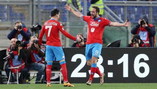 Higuain e Callejon, mattatori nell'ultimo confronto all'Olimpico. Fonte foto: tuttosport.it