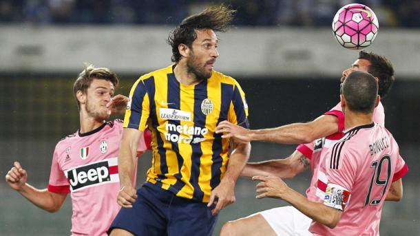 Luca Toni nell'ultima gara contro la Juventus | Foto: Corriere dello Sport