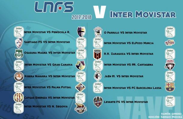 Calendario completo de Movistar Inter