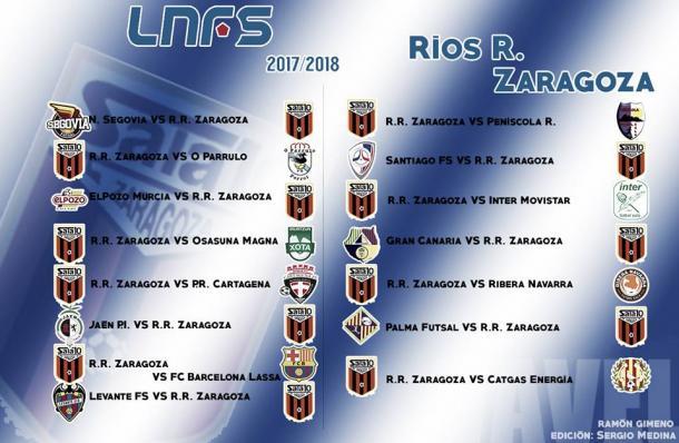 Calendario completo de Ríos Renovables Zaragoza