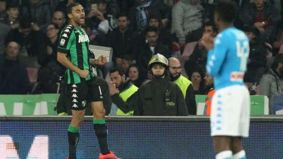 Gregoire Defrel esulta dopo l'1-1 | Fonte immagine: Repubblica