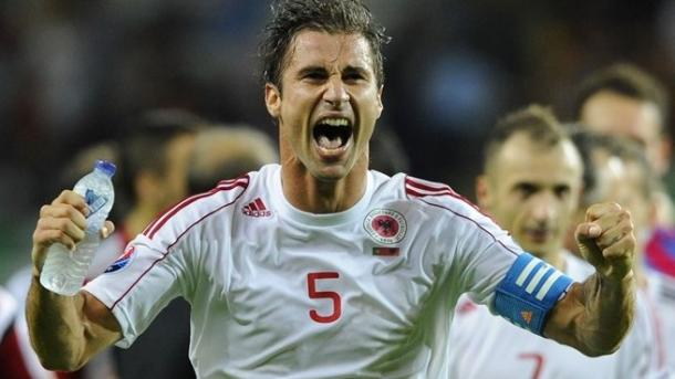 Albania captain Lori Cana has 92 caps for his country. (Photo: UEFA)
