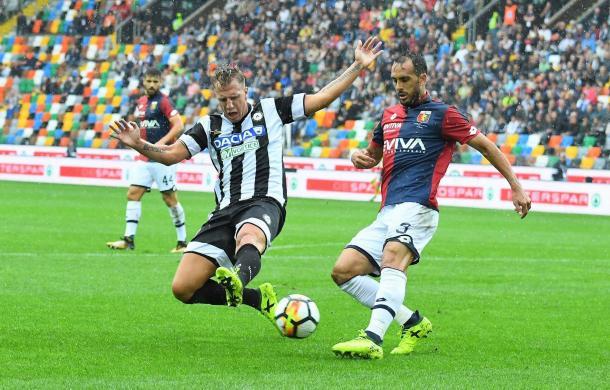 Ottimo impatto per Maxi Lopez. Fonte: Fonte: https://www.facebook.com/UdineseCalcio1896/