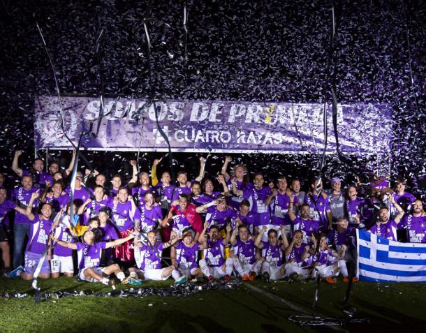 Celebración del ascenso / Fuente: Real Valladolid