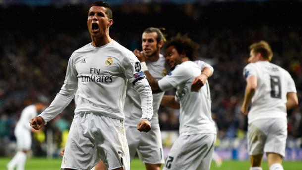 Ronaldo dopo la tripletta al Wolfsburg. Fonte: Getty Images.