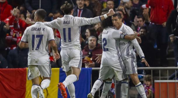 La tripletta di Ronaldo al Calderon. Fonte foto: tuttosport.it