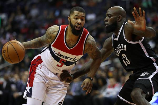 Markieff Morris's grit and toughness were big reasons for the Wizards' successful season. (Photo by Patrick Smith/Getty Images North America)