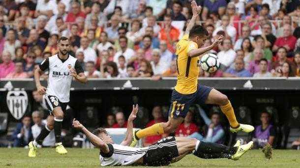 Ha giocato nel weekend l'Atletico, bloccato sullo 0-0 da un solido Valencia. Fonte foto: it.eurosport.com
