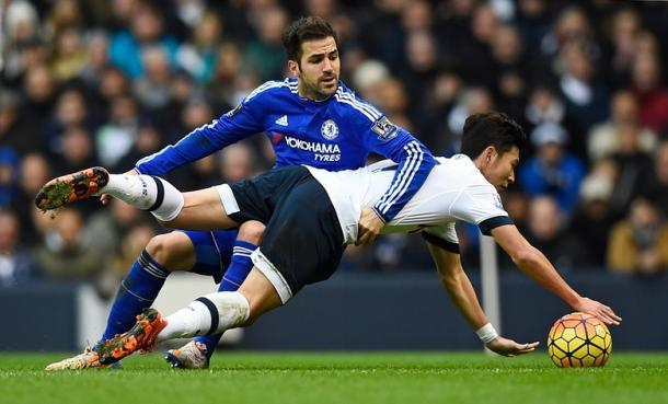 It was a real battle at White Hart Lane on Sunday between Spurs and Chelsea. (Photograph: Dylan Martinez/Reuters)