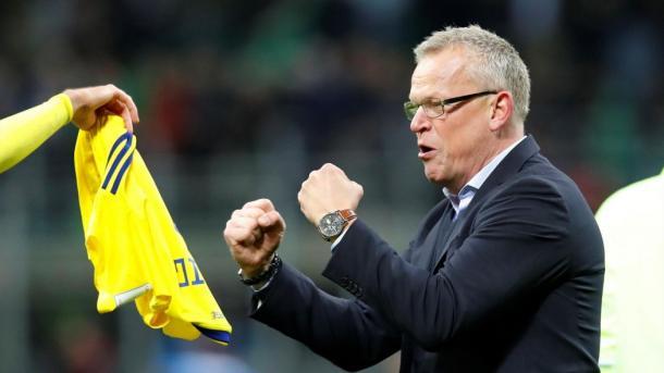 Janne Andersson, entrenador de Suecia Foto: Reuters