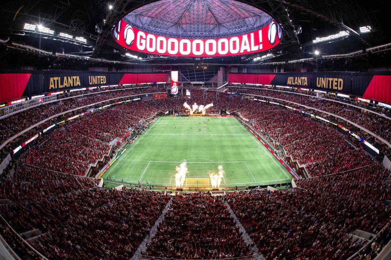 El Mercedes-Benz Stadium en un encuentro de Atlanta United FC (facebook.com)