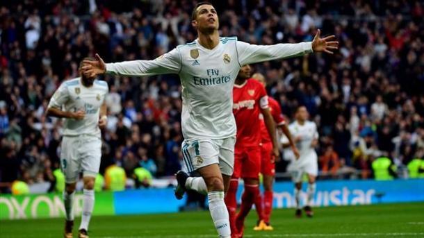 Cristiano Ronaldo en el último partido del Real Madrid como local | Foto: Real Madrid