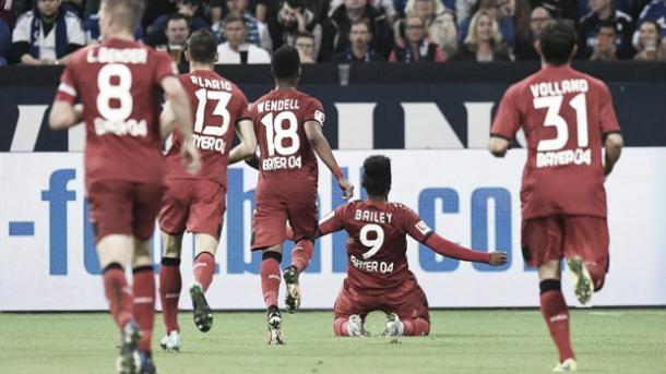 Leon Bailey brilla en el Leverkusen. Foto: Bundesliga.com