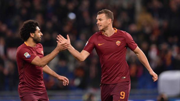 Salah e Dzeko, coppia gol fantastica che fa sognare la Roma. Fonte foto: corriere dello sport