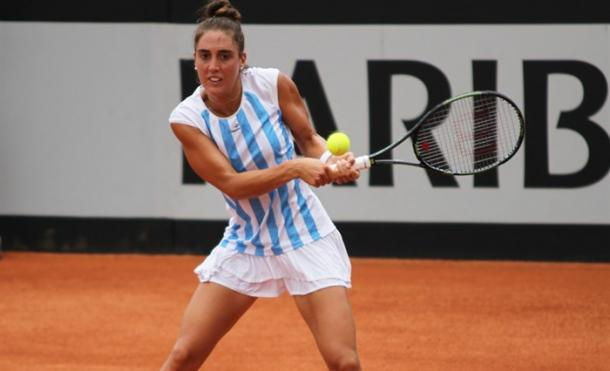 Pella in Fed Cup action. Photo:Luis Velasco