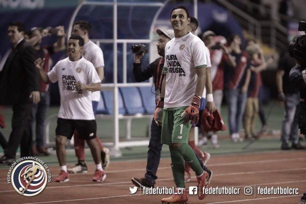 La cara de Keylor refleja su alegría | Foto: Federación Costarricense de Fútbol