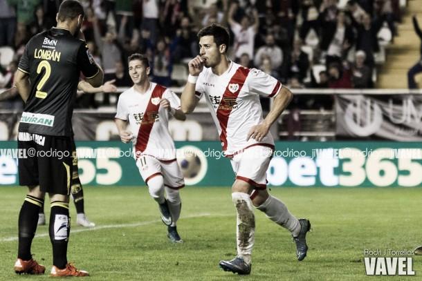 Javi Guerra celebrando un gol. Fotografía: Rodri J Torrellas
