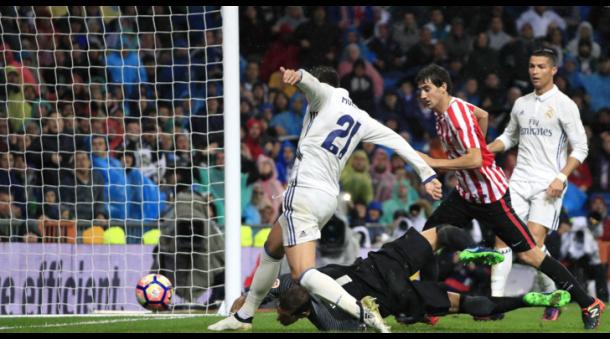 Il 2-1 di Morata contro l'Atheltic Bilbao (Fonte foto: Marca)