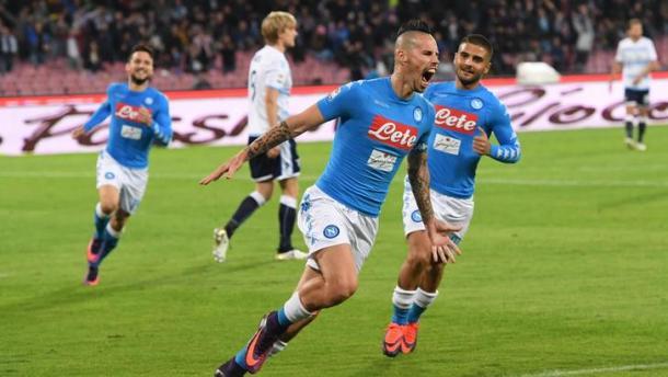 Marek Hamsik contro la Lazio. Fonte foto: tuttosport