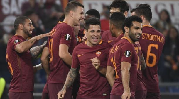 La Roma dopo il successo in Europa League. Fonte foto: tuttosport.it