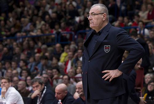 Coach Jasmin Repesa, allenatore dell'Olimpia Milano. Fonte foto: Olimpiamilano.com