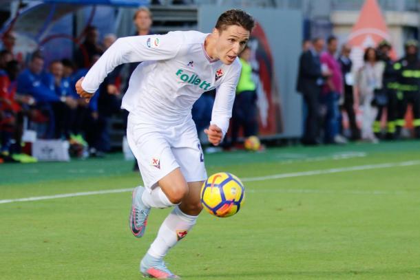 Federico Chiesa en el partido contra el Crotone / Foto: Fiorentina