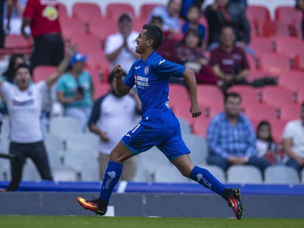 Elías Hernández celebrando gol de Cruz Azul | Foto: Mexsport