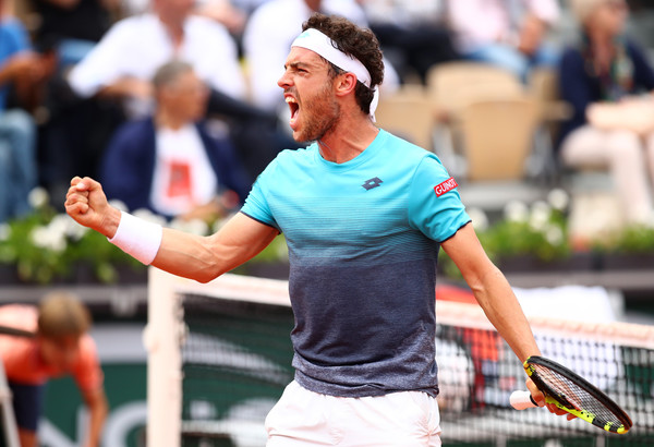 Marco Cecchinato was the major shock at Roland Garros, upsetting Novak Djokovic to reach the semifinals. Photo: Clive Brunskill/Getty Images
