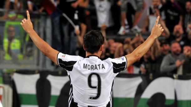 Alvaro Morata, ancora man of the match. (fonte immagine: CdS)