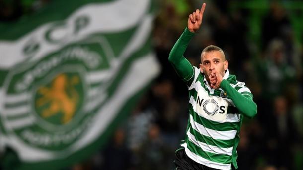 Slimani (26 golos) já bateu o record de Liedson (25 golos) num campeonato // Foto: pt.uefa.com