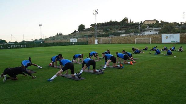 The Terriers are in Marbella for training camp during an international break for the second straight year/Photo: Huddersfield Town official Facebook page