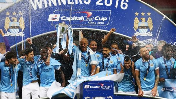 The League Cup at least meant City could boast silverware this year. (Photo: Getty)