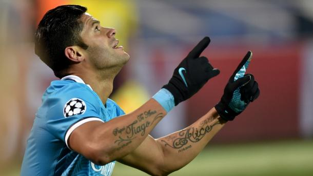 Hulk's goal was not enough for Zenit, who crashed out of the competition after a late collapse. | Photo: Getty