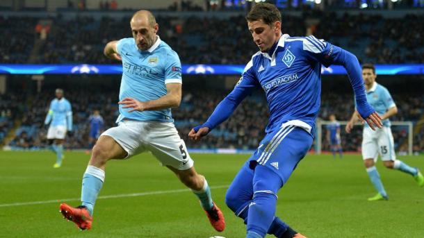 O resultado da 1ª mão garantiu a passagem do Manchester aos quartos (Foto: Uefa.com)