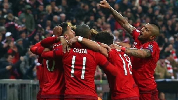 Il Bayern esulta dopo aver segnato alla Juve. Fonte: Getty Images.
