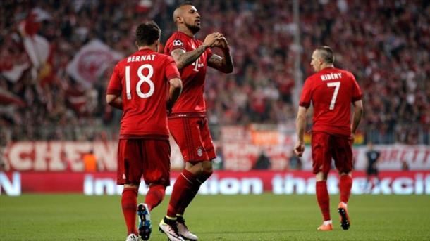 Il cuore di Vidal dopo la rete al Benfica. Fonte: Getty Images.