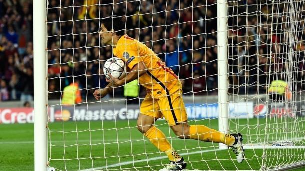 Suarez marcou os dois golos da vitória (Foto: pt.uefa.com/uefachampionsleague/)