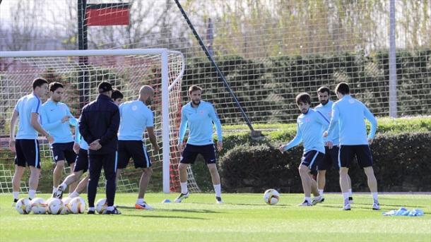 Il Bilbao si allena alla vigilia del match con il Siviglia. Fonte: Getty Images.