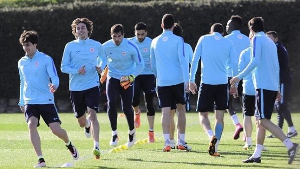 Il Bilbao durante l'ultima seduta di allenamento. Fonte: Getty Images.