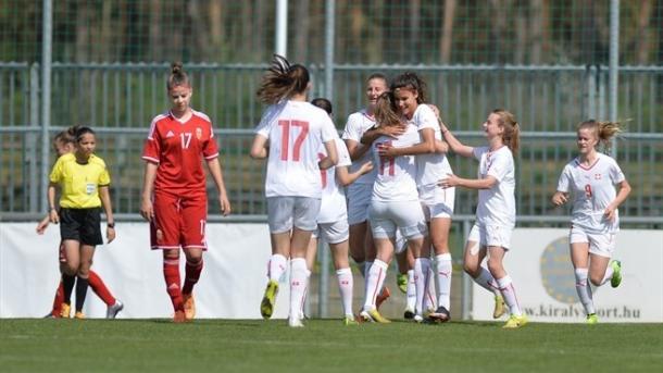 Switzerland had plenty to celebrate on the opening day. (Photo: Gábor Baricsa)