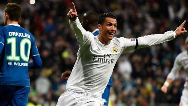 CR7 esulta dopo il secondo gol al Wolfsbug. Fonte: Getty Images.