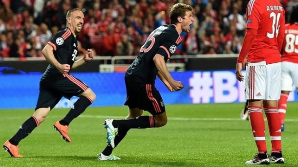 Muller in gol con il Benfica. Fonte: Getty Images.