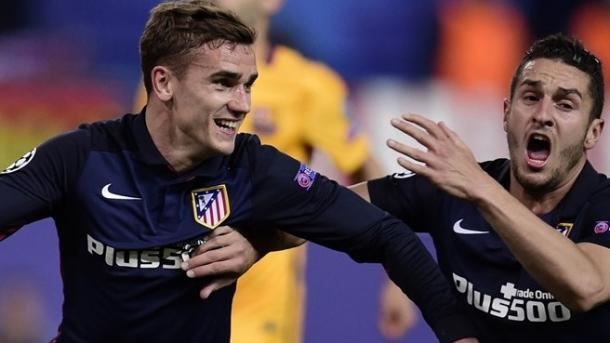 Griezmann dopo il gol al Barcellona. Fonte: AFP/Getty Images.