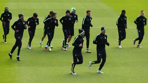 L'allenamento dei Citizens nel centro sportivo degli inglesi. Fonte: Getty Images.