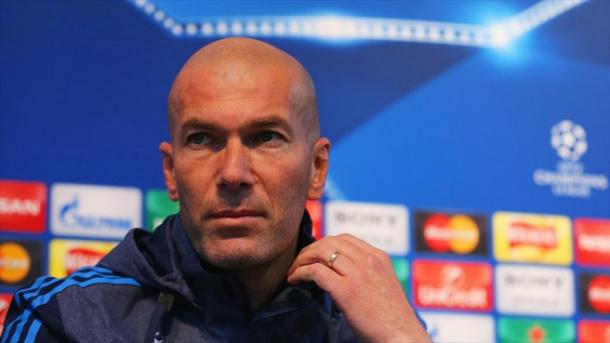 Zidane in press conference. Photo: UEFA