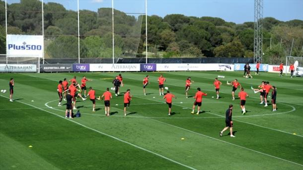 L'allenamento dell'Atletico - Source: Uefa.com