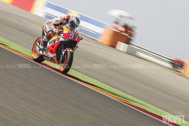 Márquez, en Motorland (Aragón)/ Foto: Lucas ADSC