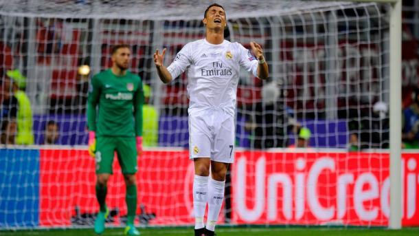 CR7 não esteve a 100% ao longo do tempo regulamentar | Foto: http://pt.uefa.com/uefachampionsleague