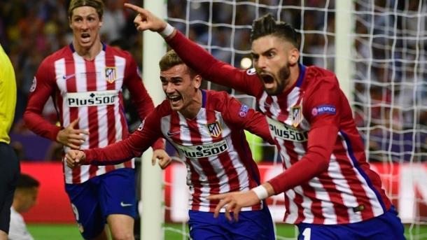 La gioia di Carrasco dopo il pari. Fonte: it.uefa.com