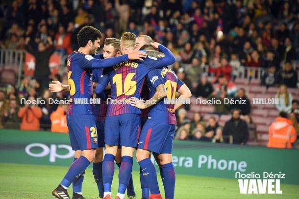 Los azulgrana superaron al Murcia por 5-0 en Copa.   Foto: Noelia Déniz, VAVEL